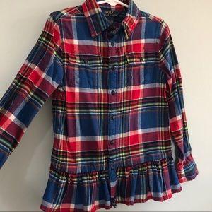 Polo Ralph Lauren Girls Flannel Shirt